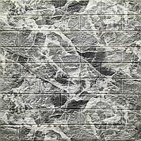 Декоративная 3Д-панель стеновая Мрамор кирпич (самоклеющиеся 3d панели для стен оригинал) 700x770x5 мм