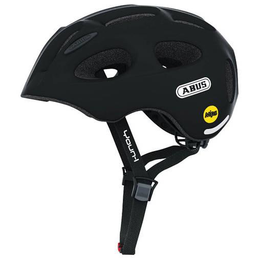 Велосипедний дитячий шолом ABUS YOUN-I MIPS M 52-57 Velvet Black, фото 2