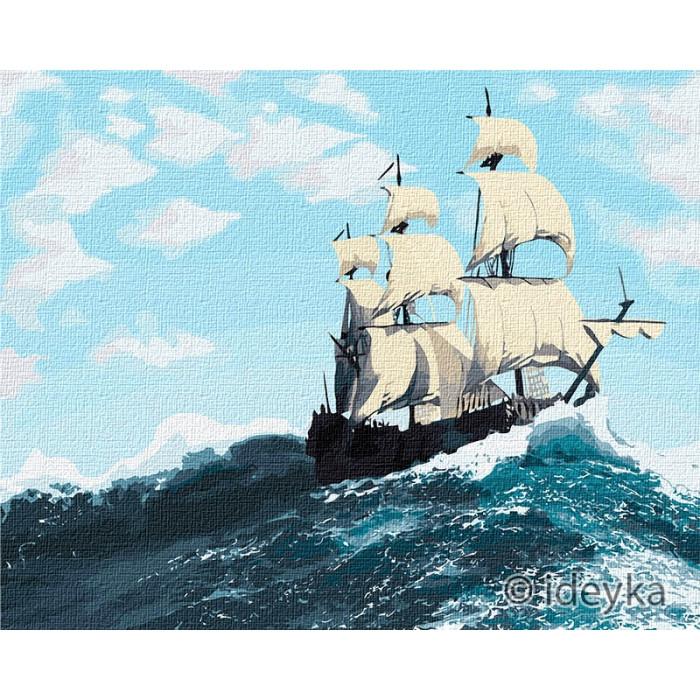 Картина по номерам Бурхливі хвилі  Ідейка 40 х 50 КНО2752