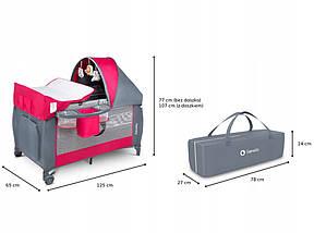 Дитяче ліжечко-манеж Lionelo SVEN PLUS PINK ROSE, фото 2