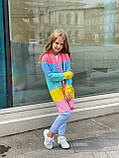Детский кардиган с капюшоном в полоску, на пуговицах, фото 3