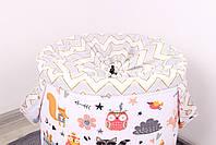 """Текстильна корзина для зберганя іграшок """"Лісові звірі"""", фото 4"""