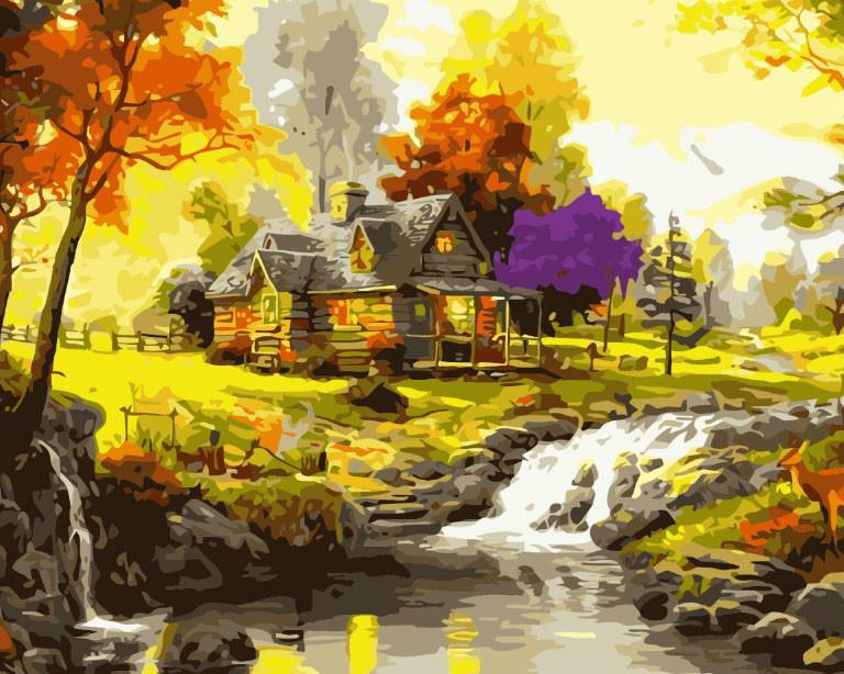 Картина по номерах (Будинок у лісі) bk_1334
