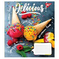 Тетрадь 48 листов клетка Десерты YES