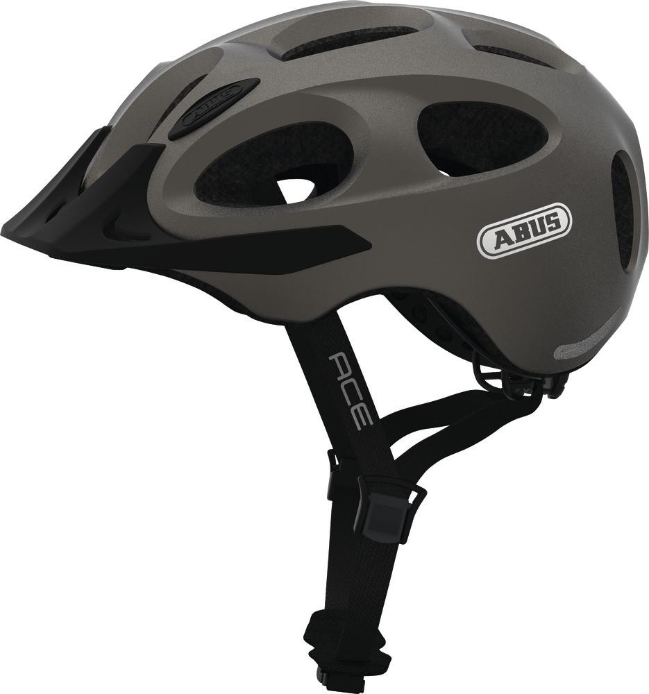 Шлем велосипедный ABUS YOUN-I ACE M 52-57 Metallic Silver
