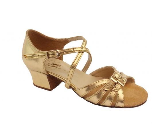 Спортивно бальна взуття для дівчаток, золото