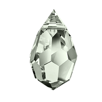 Хрустальные подвески 681 Preciosa (Чехия) 6х10 мм Black Diamond 2-й сорт