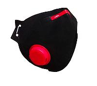 Респиратор маска черная FFP3 с КЛАПАНОМ РУТА защитный респиратор ФФП3 маска многоразовая противовирусный