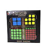 Набір кубиків рубика в коробці з 4 штук подарунковий набір Кубик рубик головоломка іграшка, фото 10