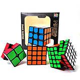 Набір кубиків рубика в коробці з 4 штук подарунковий набір Кубик рубик головоломка іграшка, фото 9
