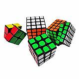Набір кубиків рубика в коробці з 4 штук подарунковий набір Кубик рубик головоломка іграшка, фото 7