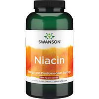 Ниацин, Swanson, Niacin, 500 мг, 250 капсул