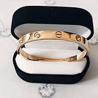 Браслет Ка  ртье Ca  rtier Love 16S, 4 камня, Розовое Золото