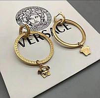 Золотые серьги кольца Versa ce Верса че бижутерия