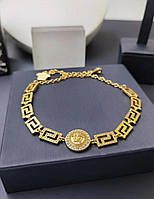 Ожерелье Versac e, цепочка Вер саче Голд бижутерия