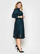 / Размер 50, 52, 54, 56, 58 / Женское нарядное платье Рина изумруд, фото 2