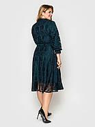 / Размер 50, 52, 54, 56, 58 / Женское нарядное платье Рина изумруд, фото 3