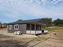 Каркасный дом для дачи 11.60*10.53 включая террасу