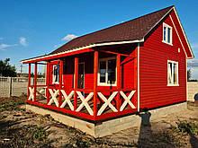 Каркасний будиночок для дачі 6,40*9,40 з двома терасами