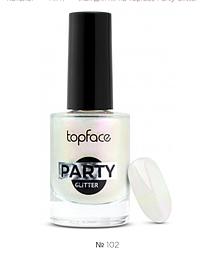 Лак для ногтей Topface Party Glitter № 102