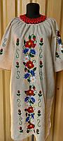 Сукня натуральний льон, ручна вишивка 022 Класика ОГ 114 см