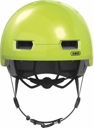 Шлем велосипедный ABUS SKURB M 54-58 Signal Yellow, фото 3
