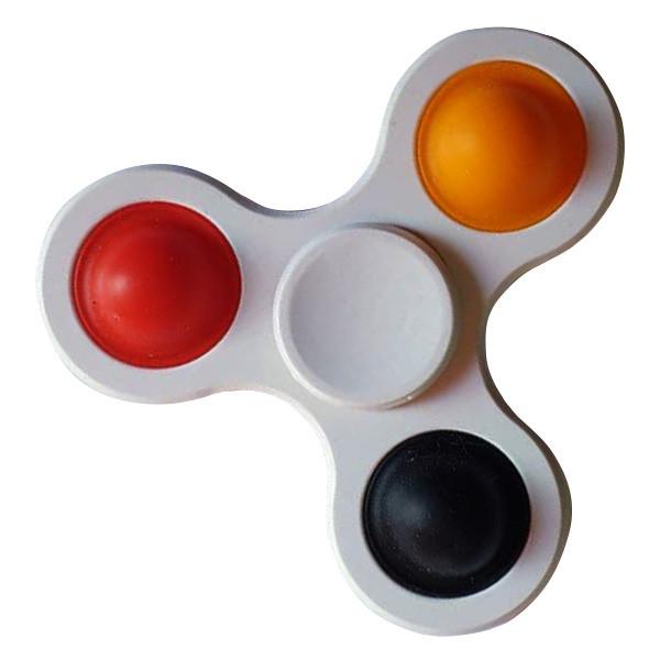 Simple Dimple Антистрес Іграшка Сімпл Дімпл - Pop It - Поп Іт - Попит - Popit) - Білий Спиннер - 3 пупырки