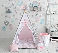 Детская палатка-вигвам розовая 125х125х170 см, фото 2