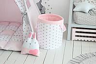 Детская палатка-вигвам розовая 125х125х170 см, фото 4