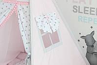 Детская палатка-вигвам розовая 125х125х170 см, фото 6