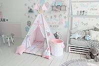 Детская палатка-вигвам розовая 125х125х170 см, фото 3