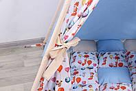 Дитячий намет-вігвам з килимком Сірі Зірки 125х125х170 см, фото 5