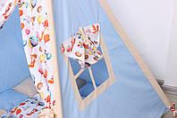 Дитячий намет-вігвам з килимком Сірі Зірки 125х125х170 см, фото 9