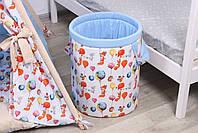 Дитячий намет-вігвам з килимком Сірі Зірки 125х125х170 см, фото 8