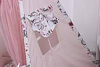 Дитячий намет-вігвам з килимком Сірі Зірки 125х125х170 см, фото 7