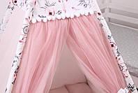 Дитячий намет-вігвам з килимком Сірі Зірки 125х125х170 см, фото 6