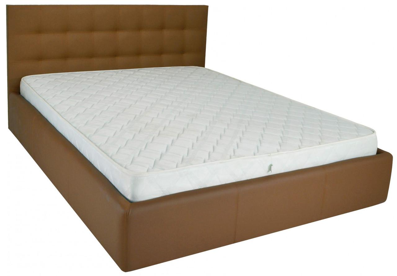 Ліжко Richman Честер 120 х 190 см Флай 2213 A1 З підйомним механізмом і нішею для білизни Світло-коричнева