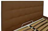 Ліжко Richman Честер 120 х 190 см Флай 2213 A1 З підйомним механізмом і нішею для білизни Світло-коричнева, фото 3