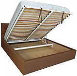Ліжко Richman Честер 120 х 190 см Флай 2213 A1 З підйомним механізмом і нішею для білизни Світло-коричнева, фото 4