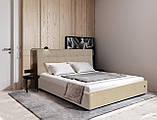 Ліжко Richman Честер 120 х 190 см Флай 2213 A1 З підйомним механізмом і нішею для білизни Світло-коричнева, фото 8