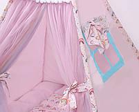 Детская палатка-вигвам с ковриком Радуга 125х125х170 см, фото 5