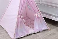 Детская палатка-вигвам с ковриком Радуга 125х125х170 см, фото 7