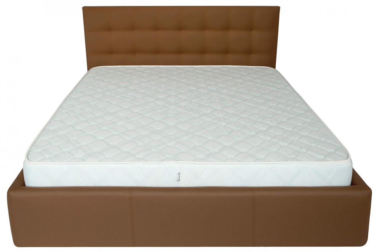 Кровать Двуспальная Richman Честер 160 х 190 см Флай 2213 A1 Светло-коричневая