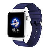 Смарт часы Фитнес браслет трэккер Smart Watch Mi5 pro Sim карта и камера температура синие + Подарок, фото 3