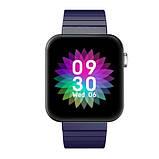 Смарт часы Фитнес браслет трэккер Smart Watch Mi5 pro Sim карта и камера температура синие + Подарок, фото 6