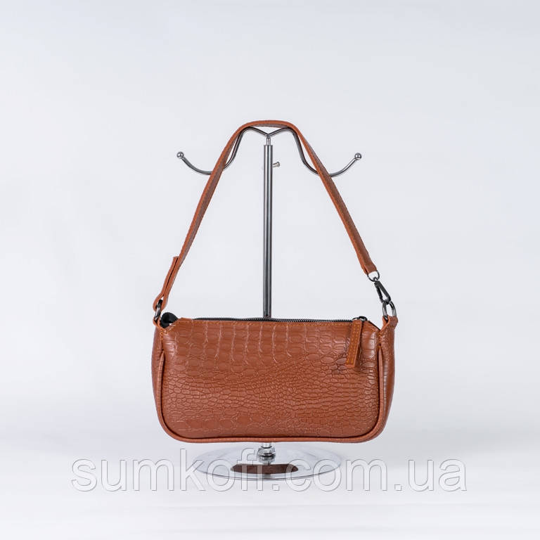 Руда жіноча маленька сумочка клатч через плече стильна гарна жіноча елегантна mini сумочка
