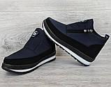 Женские зимние ботинки - кроссовки темно-синие (БТ-5ст), фото 4
