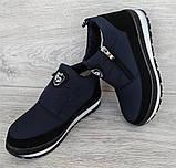 Женские зимние ботинки - кроссовки темно-синие (БТ-5ст), фото 8