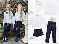 Одежда для школы, Школьные брюки (синие) Моне р-р 128,134,140