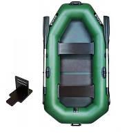 Надувная лодка Ладья ЛТ-220ДСТ двухместная гребная с веслами и сиденьями 2.2 м ladЛТ-220ДСТ TP, КОД: 2611202